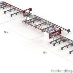 Trägerbohrlinien-Übersicht Produktionsanlage